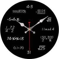 Silent Math Wall Clock