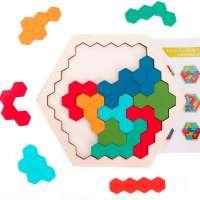 Ranslen Wooden Hexagon Puzzles for Kids