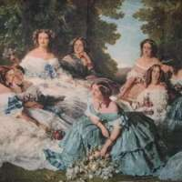 'Her Ladies in Waiting' Spanish Party Classical Baroque Woven Wall Hanging