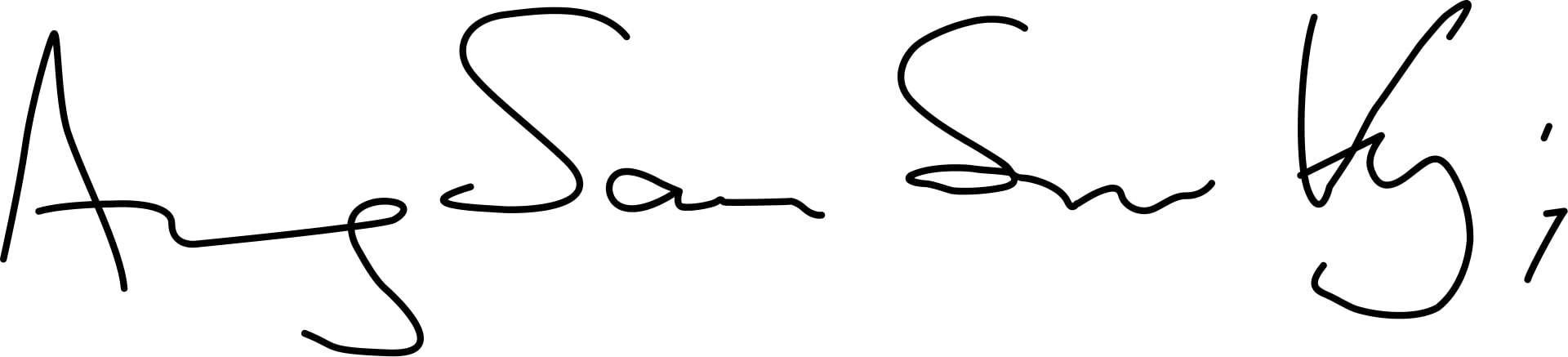 Aung San Suu Kyi Signature