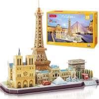 Eiffel Tower Notre Dame de Paris The Louvre 3D Puzzle