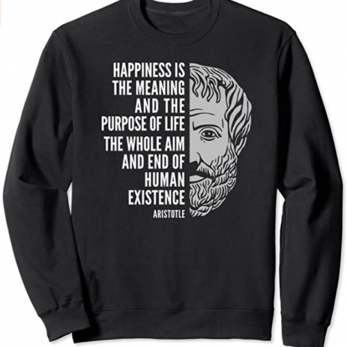 Aristotle Inspirational Quote Sweatshirt