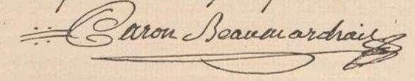 Pierre Beaumarchais Signature